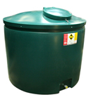 low level 1600 litre tank for heating oil